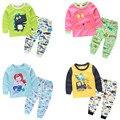 Casual Crianças Meninos Meninas Homewear Roupas Conjunto das Crianças Encantador Dos Desenhos Animados Imprimir Top + Pant tz-0909