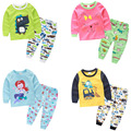 Casual Kids Boys Girls Homewear Clothes Set Children's Lovely Cartoon Print Top+Pant tz-0909