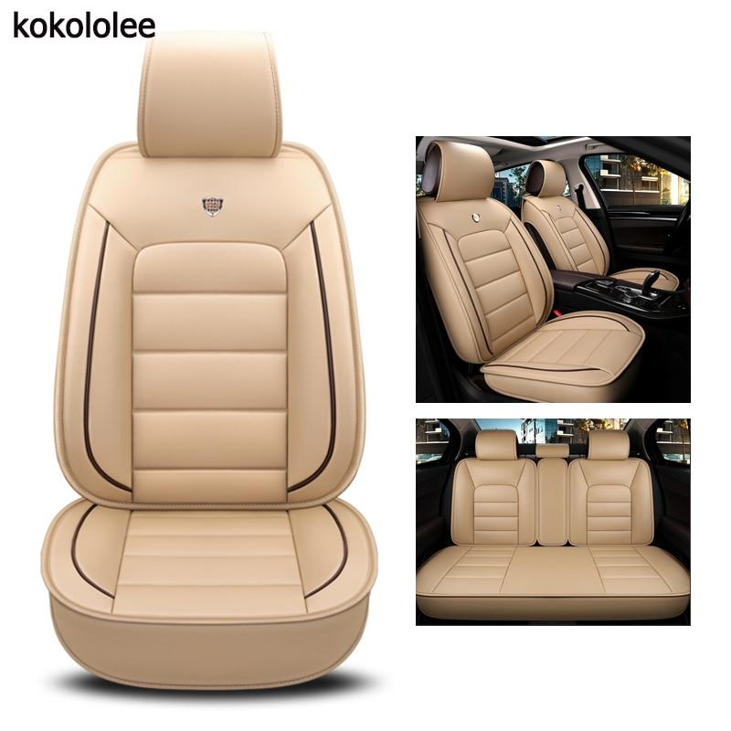 Kokololee de la pu cubierta de asiento de cuero de coche para bmw e60 f11 kia rio 3 4 honda accord 2003-2007 suzuki jimny estilo de coche accesorios de coche
