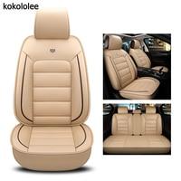 kokololee pu leather car seat cover For bmw e60 f11 kia rio 3 4 honda accord 2003 2007 suzuki jimny car styling car accessories