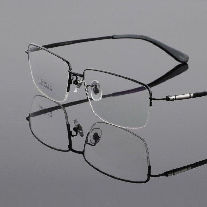 Nouveau rétro mode titane pur grand visage hommes lunettes cadres lunettes prescription optique lecture lunettes cadre lunettes mâle
