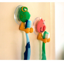 Animal Cute Hello Kitty Cartoon Suction Cup Toothbrush Holder Bathroom Accessories Set 5 colors Wall Suction