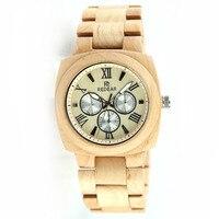 Redear Top Brand New Design Bamboo Wooden Men Watch Quartz Sport Watches Luxury Dress Wristwatches Japanese Movement Relogio