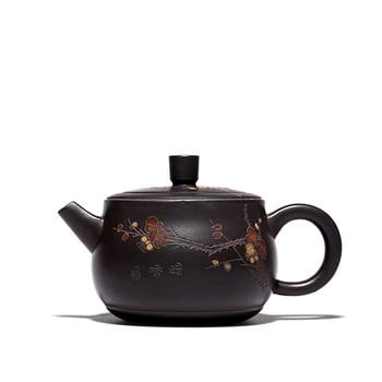 real yixing zisha tea pot original ore black clay pot handmade marked pot of tea 300ml Chinese JingLan tea pot set in China new