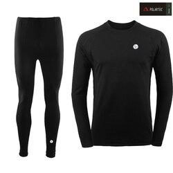 2019 جديد الشتاء الرجال ملابس اخلية حرارية مجموعات مرونة الدافئة الصوف طويل جونز للرجال Polartec تنفس الحرارية الملابس الداخلية الدعاوى