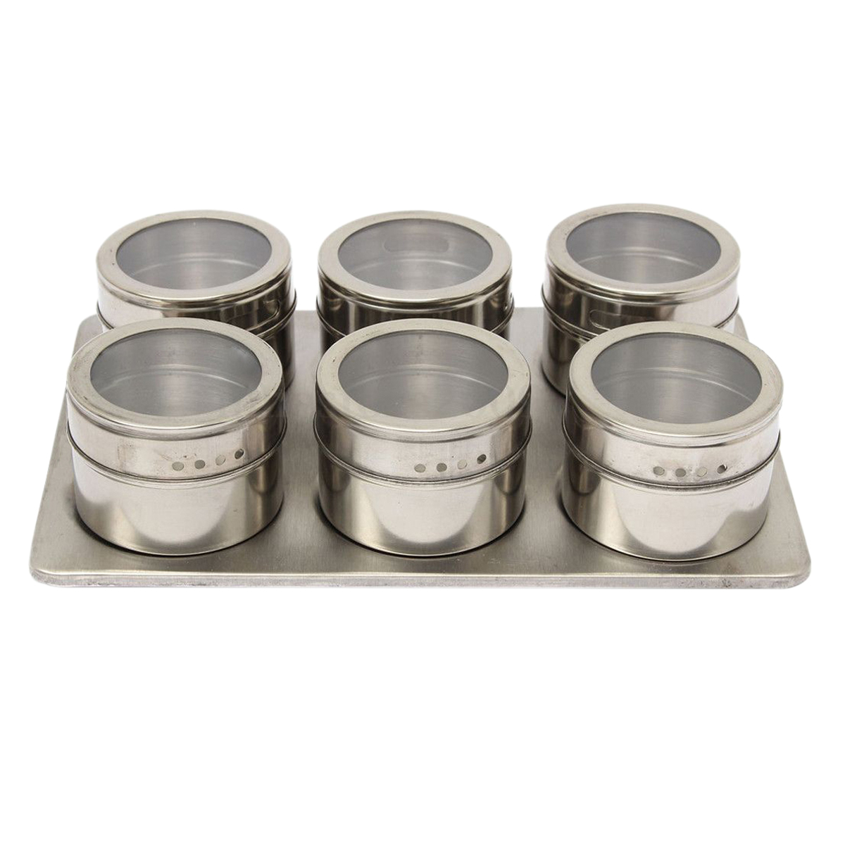 7in1 stainless steel Magnetic Spice Jar Set Kitchen Rack Holder Seasonings Containers Condiments Storage Box