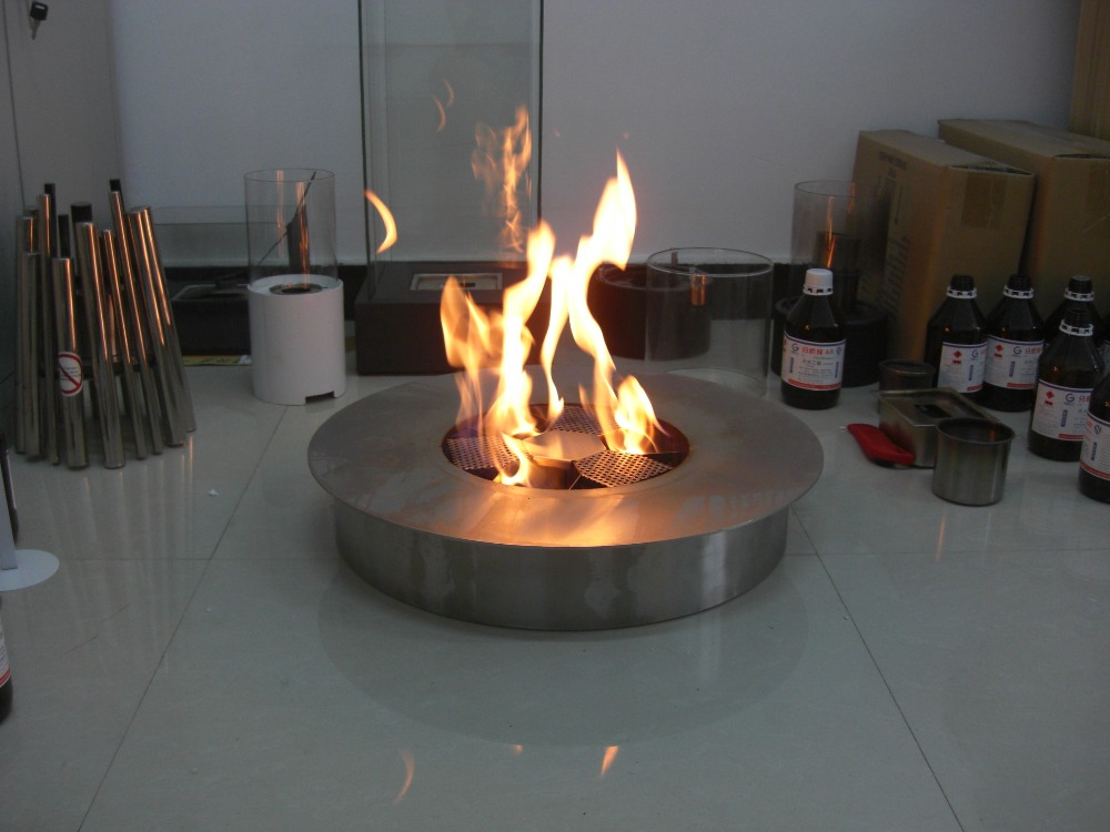 Inno Living Fire 8 Liter Rond Ethanol Fireplace Outside Fire Place