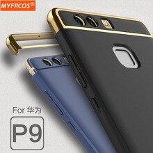 Case Для Huawei P9 роскошный Все включено 3 в 1 Задняя Крышка полная Защита Корпуса Новый P 9 Жесткий shell мобильные Аксессуары