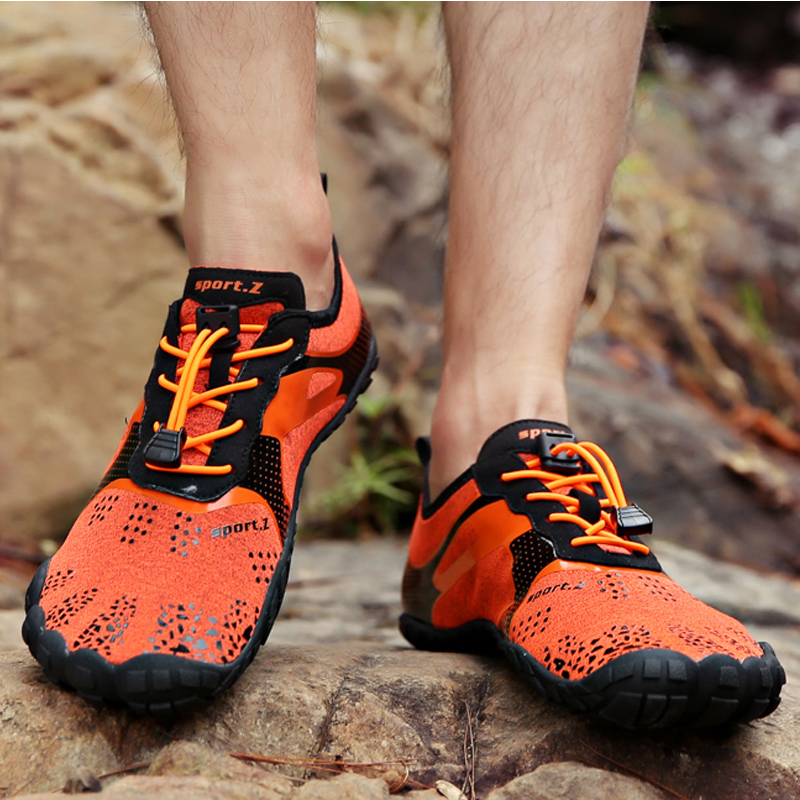 2019 New Summer 35-47 Outdoor Men Hiking Shoes Mountain Shoes Trekking Shoes Women Wading Quick Dry Upstream Shoes Breathable(China)