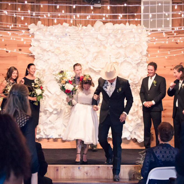 Large Paper Flowers Backdrop Giant Paper Flowers Wedding Decor