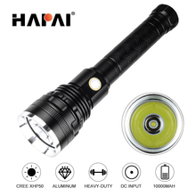 10000 lumens Super Bright LED Flashlight XHP50 XHP70 Stepless dimming High Power Led torch use 2*26650 battery outdoor lighting