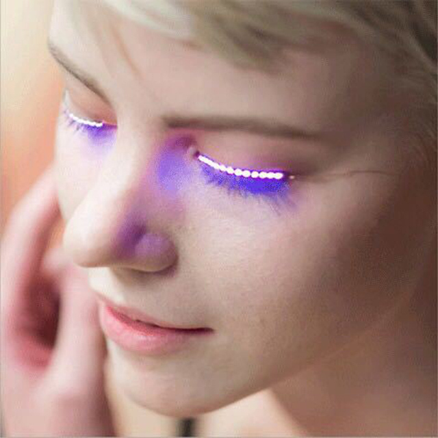 Glow Props Interactive Led False Eyelashes Light For Sale Party