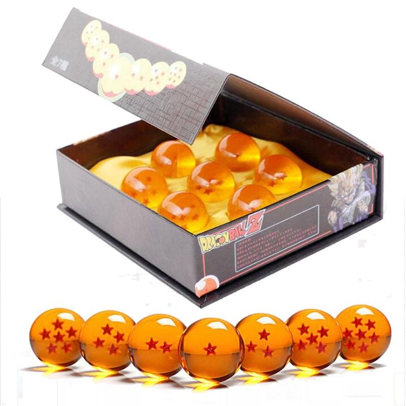 Anime Dragon Ball Z Super Saiyan 7pcs/Set Dragon Ball Z 7 Stars Crystal Ball DragonBall Box Packaged Figurine Model Toy