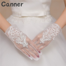 1 Pair of Short Lace Gloves UV Protection Outdoor Wedding Gloves Full Finger Gloves Length Costume Bridal Party Gifts A40