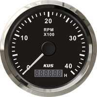 Tacómetro marino fueraborda para Motor diésel, medidor de calibre de 85mm, 0-4000RPM, con LED Digital, generador de reloj