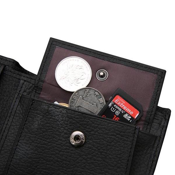 black brown coin purse bolso Cortical Features : Cowhide