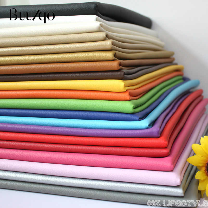 Buulqo Mới đến 50x70 cm Pu dập nổi nhỏ Slychee da vải Giả Da Vải cho May Mặc, PU da nhân tạo