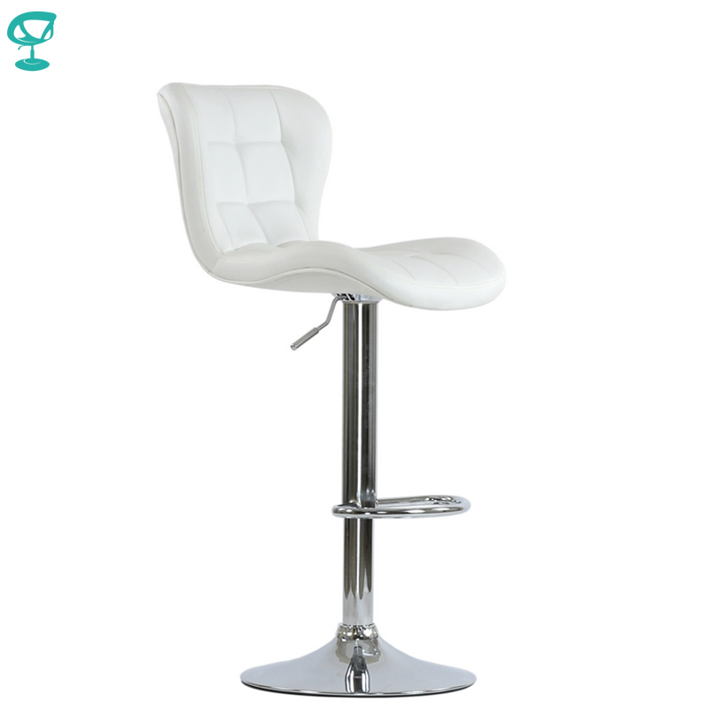95510 Barneo N-30 Leather Kitchen Breakfast Bar Stool Swivel Bar Chair Light White Color Free Shipping In Russia
