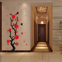Hot Sale 2015 Wall Stickers Acrylic Mirror Diy Sticker Home Decoration 3d Sticker Living Room Modern