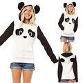 HOt brand Lovely Womens Panda Pocket Hoodie Sweatshirt Hooded Pullover Tops for women Spring clothing