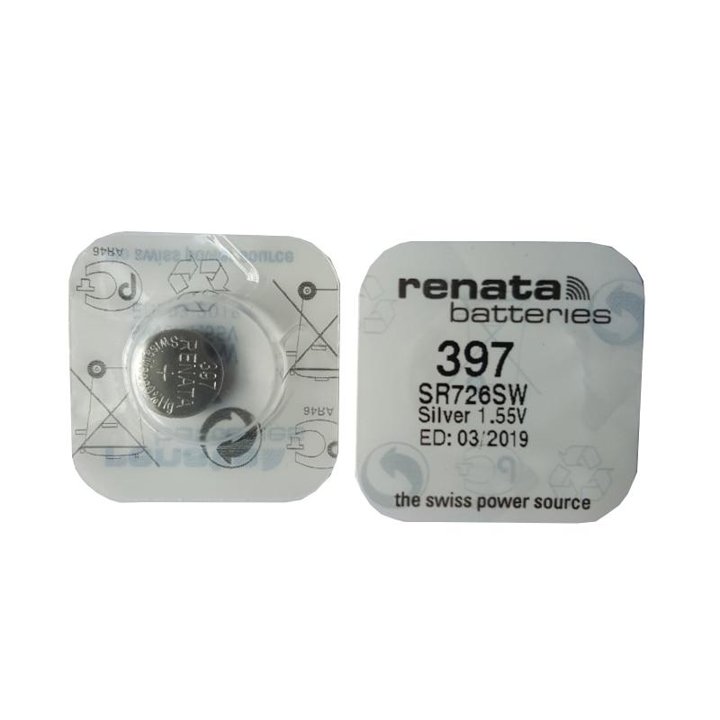 2 Pçs/lote Renata DURADOURO 397 SR726SW Bateria de Relógio de Óxido De Prata da Pilha da Tecla Baterias