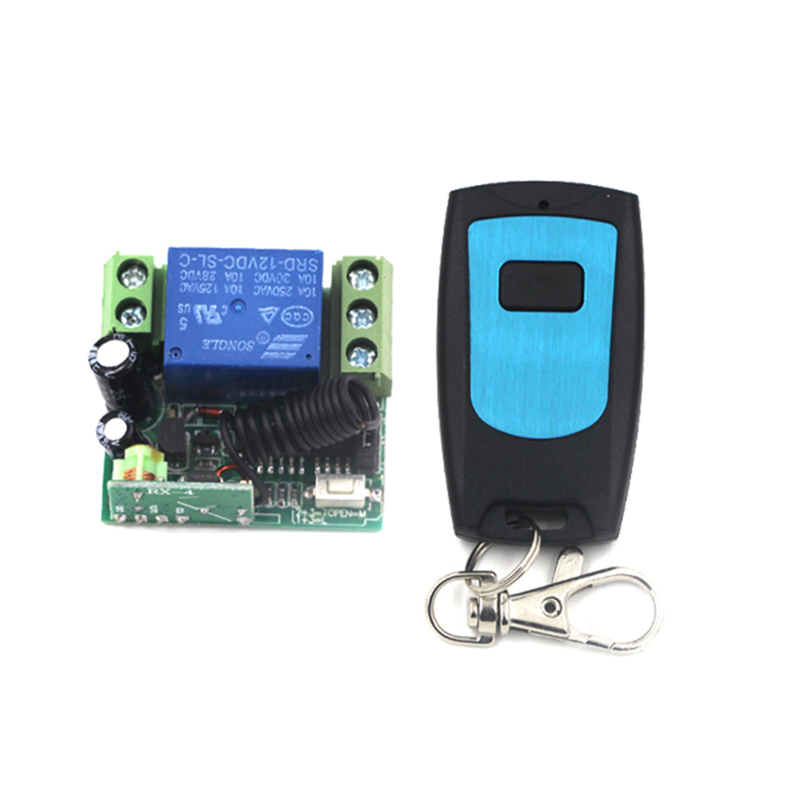 DC 12V 1CH RF Gate Garage Door Remote Control Switch z-wave 1 Button Transmitter and Receiver Mini Size 4026 варочная панель электрическая hansa bhiw67303 черный
