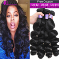 3 Bundles Brazilian Virgin Hair Loose Wave 8A Unprocessed Virgin Hair Brazilian Loose Wave Cheap Brazilian Hair Weave Bundles