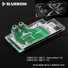 цены BARROW Full Cover Graphics Card Block use for GIGABYTE GTX1080TI Xtreme/GV-N108TAORUS X-11GD GPU Radiator RGB to AURA 4PIN Light