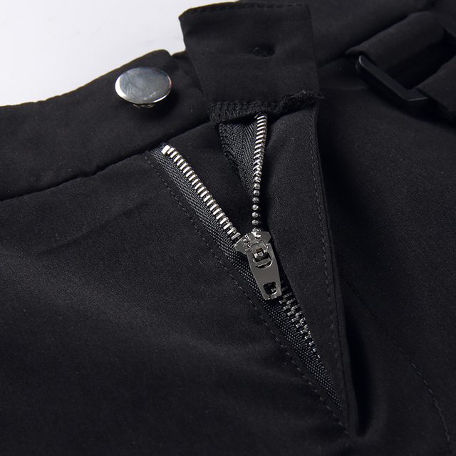 Black Cargo Pants with chains