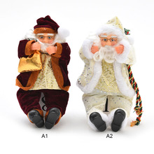 Christmas Ornaments Christmas Gift Flannel Material Santa Claus Doll Toy Xmas Tree Ornaments Christmas Decorations for Home