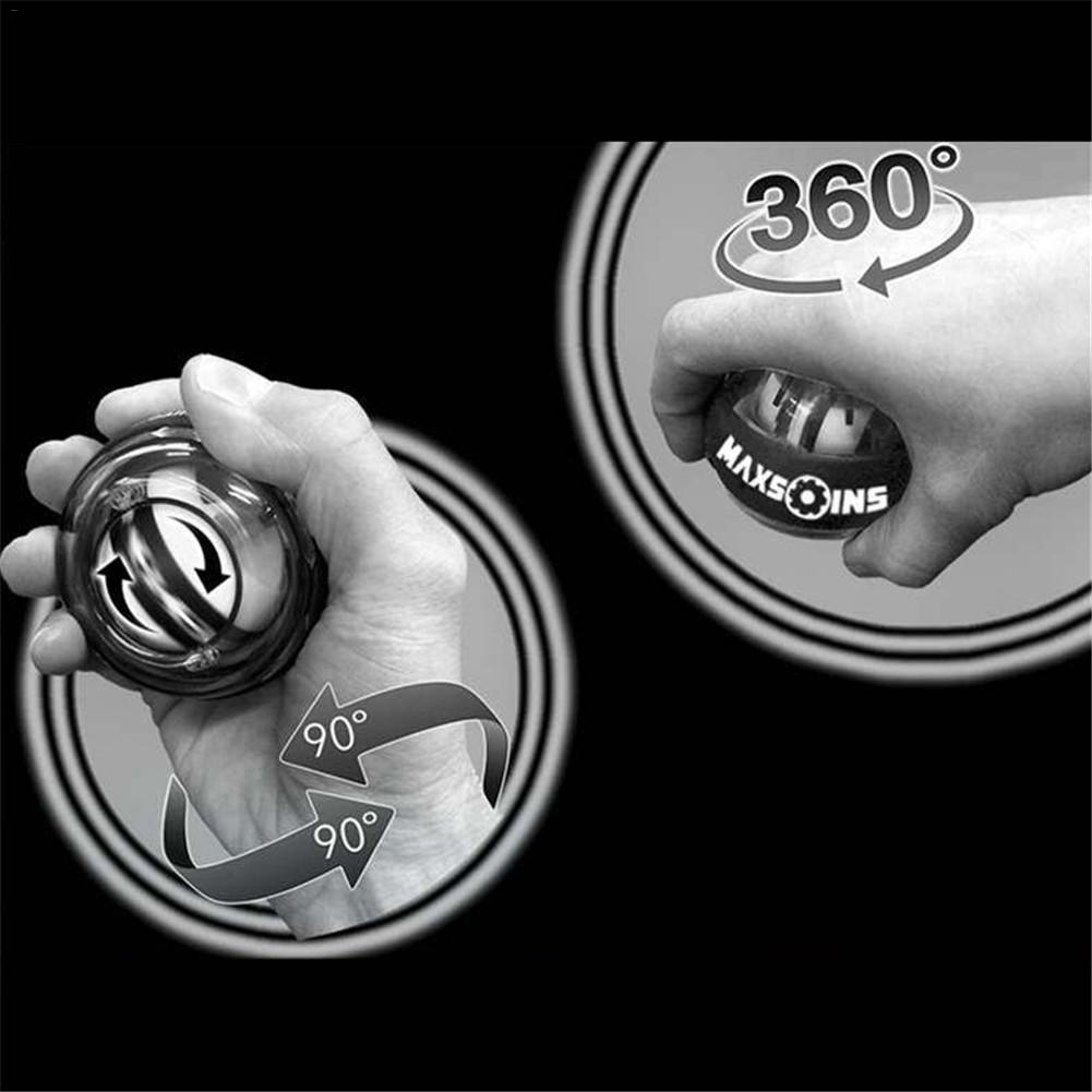 New Abs Strength Training Grip Handle Wrist Ball Spinner Gyroscopic Wrist And Forearm Exerciser For Men And Women Portable
