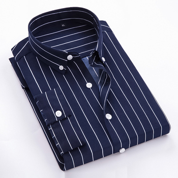 2020 spring new long sleeve cotton shirt men plus size striped luxury brand