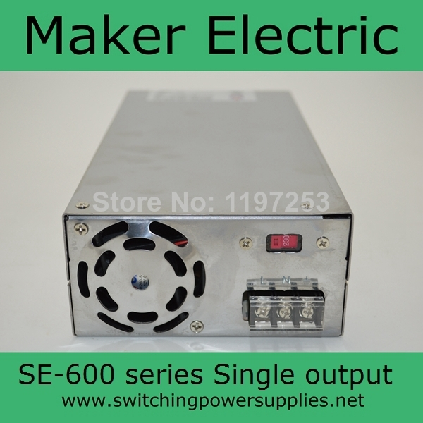 Фото 500W 100A 5V Single Output Switching Power Supply SE-600-5 wholesale Power Supplies. Купить в РФ
