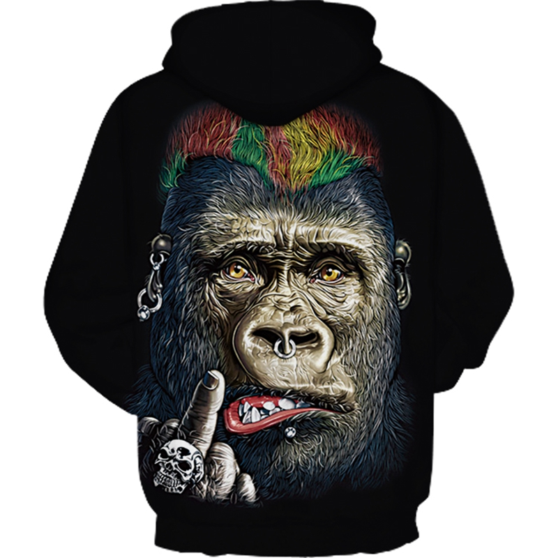 Funny Monkey All Over Printed Hoodie  1