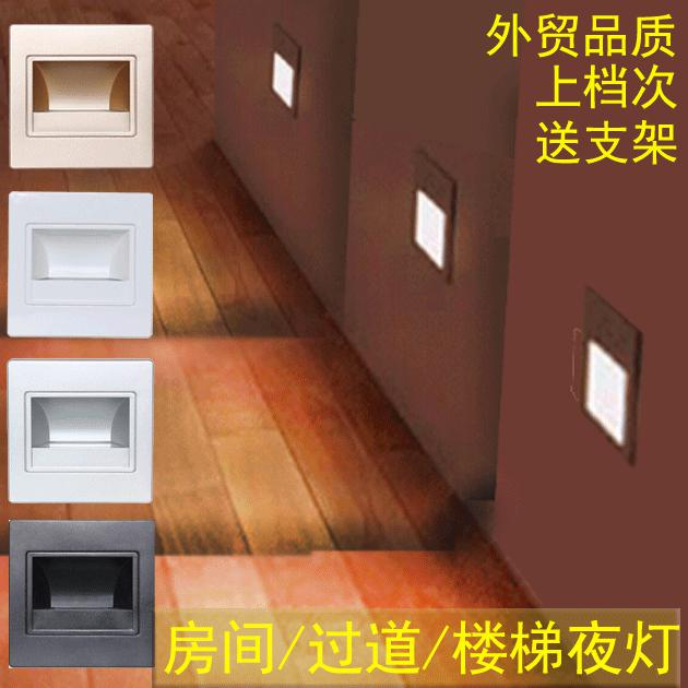 Nightlight 86 Wall Lamp Embedded Footlights Corner Lights 86 Box Wall Lamp  Aisle Stairs Baseboard Lighting