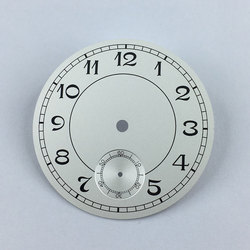 38.9mm white sterial dial silver numbers  fit 6498 movement mens Watch-P09