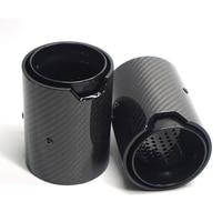 2pcs 67MM Carbon Fiber Car Exhaut tip Exhaust Pipe For BMW 1234 M Performance M2 F87 M3 F80 M4 F82 F83 M5 F10 M6 F12