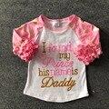 Meninas do bebê algodão raglans eu encontrei meu prince o nome dele é papai raglans infantis rosa polka dot manga raglans infantis casuais raglans