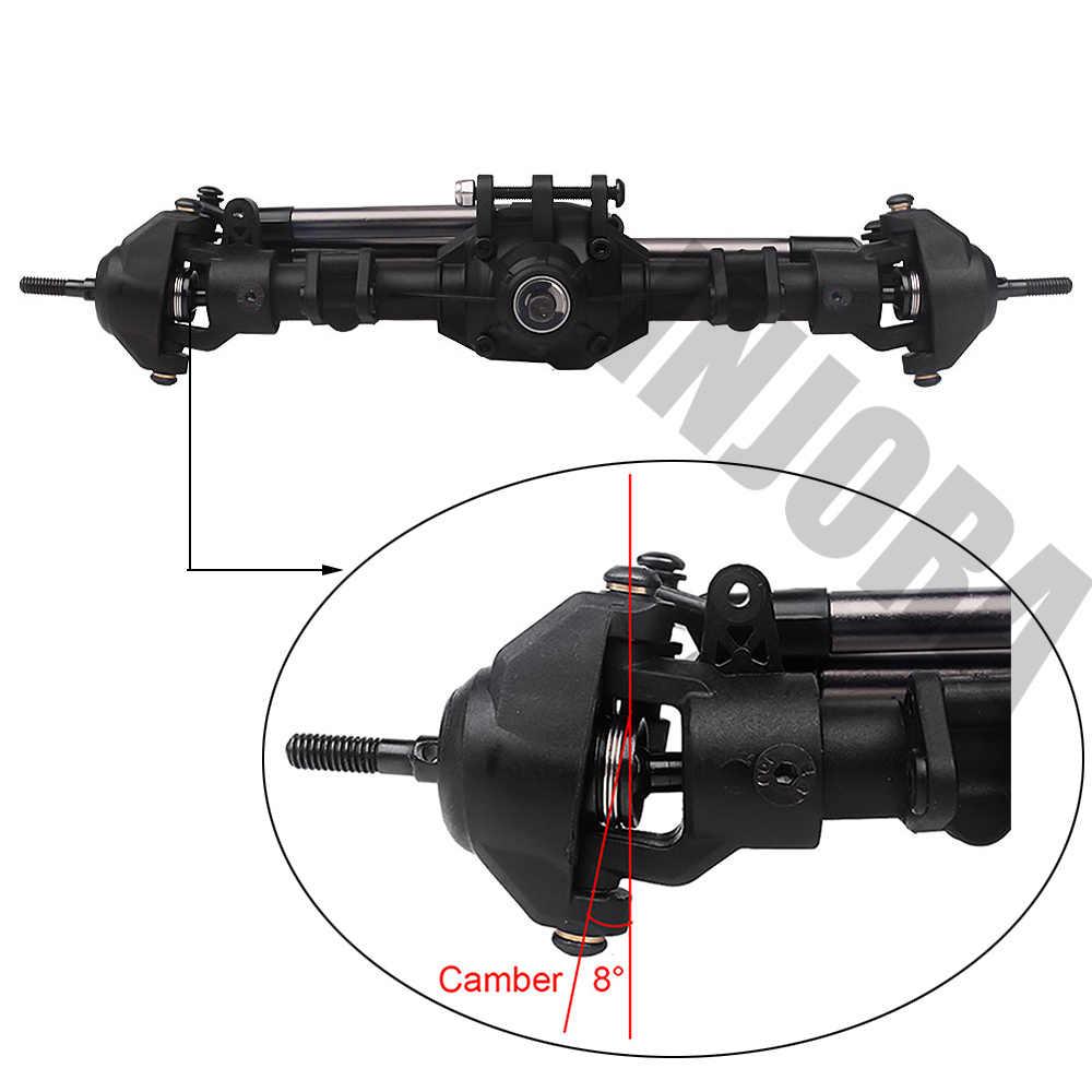 INJORA RC coche delantero trasero recto eje completo para 1:10 RC orugas Axial SCX10 II 90046 Actualización de 90047 piezas