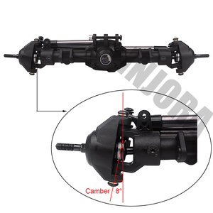Image 5 - Injora Rc Auto Voor Achter Rechte Compleet As Voor 1:10 Rc Crawler Axiale SCX10 Ii 90046 90047 Upgrade Onderdelen
