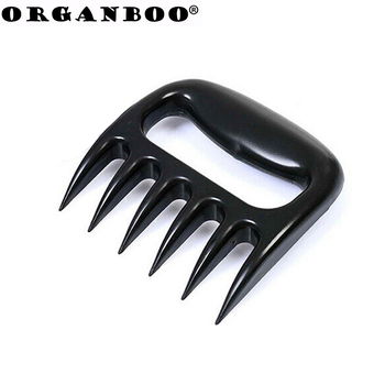 New 1pcs Black Grizzly Bear Paws Claws Meat Handler Fork Tongs Lift Shred Pork BBQ Barbecue Tool food picks kichen tool cutting tool
