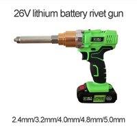 21 в портативный беспроводной электрический заклепки пистолет перезаряжаемые клепальщик батарея заклепочный инструмент тянуть гайка инст