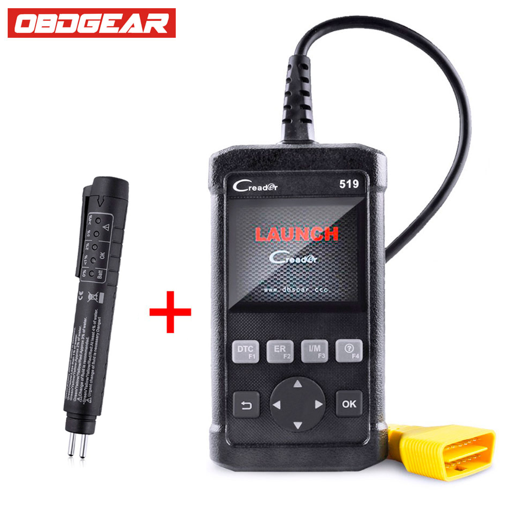 OBD OBD2 Car Scanner Launch Creader 519 Code Reader Update Online Automotive Diagnostic Tool  For VW/BMW/BENZ Car DIY Scanner 100% original launch creader 519 odb obd2 scanner for obd2 can eobd jobd cars cr519 diagnostic tool free gift brake fluid tester