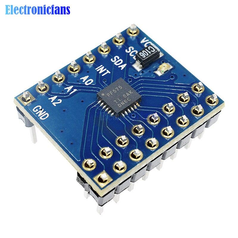 1Set IIC I2C I/O Extension Schild Modul PCF8575 16 I/O Ports 400KHz I2C Bus für Arduino Unterstützung Meisten Mikrocontroller DC 2,5 V-5