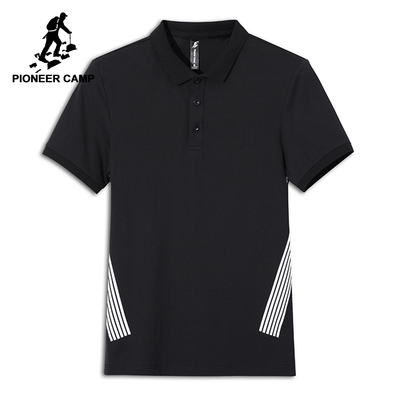 Pioneer Camp fashion summer men   polo   shirt brand-clothing casual stretch male   polos   top quality thin breathable ADP801162