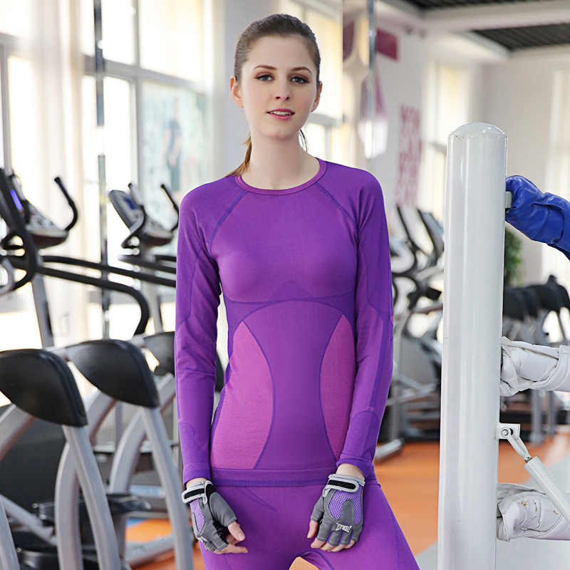 crossfit for women workout clothes yoga top gifts fitness gym shirt tights gifts running long sleeve tee tees Women/'s Rash Guard