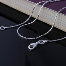 silver plated chain necklace in stock length 16 18 20 22 24 26 28 30 inch wholesale women pendant accessories chains