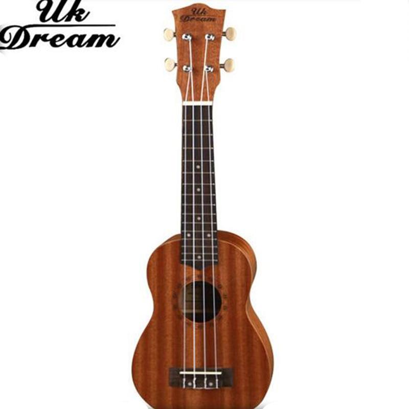Guitarra 21 인치 우쿨렐레 4 현악기 전문 악기 Sapele 세미 클로즈드 노브 기타 UK Dream US-110