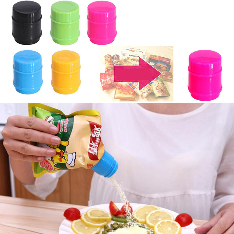Bottle Cap Shaped Sealing Bag Clips Clamp Food Preservation Fresh Moisture-proof