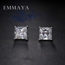 Emmaya – boucles d'oreilles carrées en cristal pour femmes, mode coréenne, bon marché, bijoux de mariage